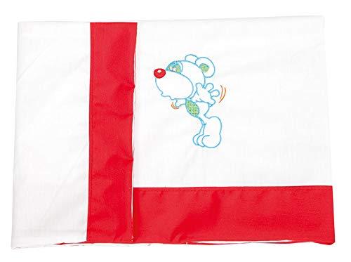 babyline Topolino–Set di lenzuola di Mini culla, Unisex, colore rosso