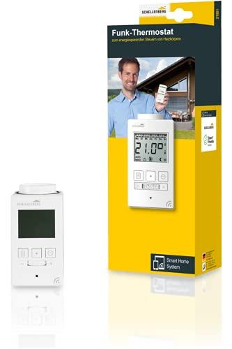 Schellenberg 21001 Smart Home Heizkörperthermostat Funk mit Zeitsteuerung, Stand-Alone und als Smart-Home Thermoastat nutzbar