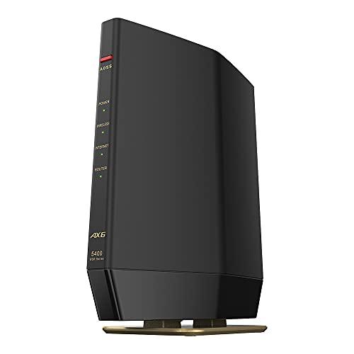 バッファロー WiFi ルーター無線LAN 最新規格 Wi-Fi6 11ax / 11ac AX5400 4803+574Mbps 日本メーカー 【iPhone12/11/iPhone SE(第二世代)/PS5 メーカー動作確認済み】WSR-5400AX6S/NMB