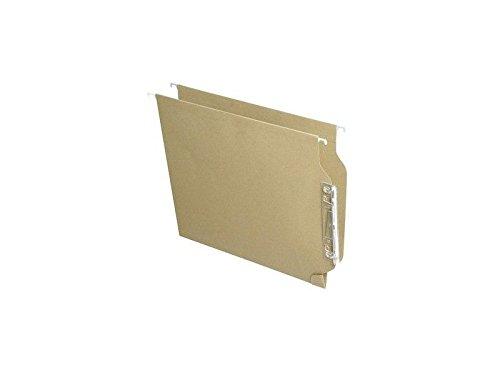 FADE 100333038 - Caja de 25 carpetas colgantes, kraft, visor lateral, A4, 1 unidad ⭐
