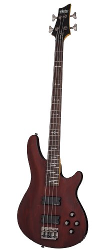 SCHECTER omen-4Walnuss Satin Bass Gitarre