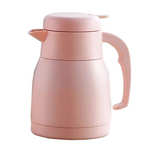 950ml Isolatie Kolf Thermal Hot Water Jug Pitcher RVS Double Layer geïsoleerde Vacuum Fles Koffie Tea Kettle Pot (Color : Pink)