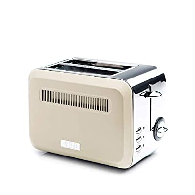 Haden Boston Toaster - Electric Stainless-Steel Toaster, 685-815W, Two Slice, Cream - CE27