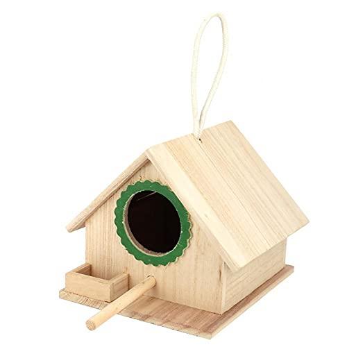 Nutrire la casetta degli uccelli, appendere la mangiatoia per uccelli selvatici Scatola di nidificazione per uccelli Connessione solida Facile installazione Resistente arresto di riposo in(verde)