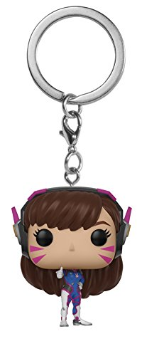 Funko Pop Keychain: Overwatch - D.Va Collectible Figure, Multicolor