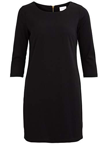 Vila Damen Kleid Vitinny New Dress, Schwarz (Black), L