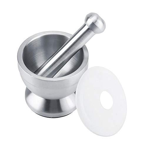 Roestvrij stalen handmasher bowl vijzel pistle grinder beans knoflook specerijen levensmiddelen keukengereedschap met deksel voor het fijnmalen en malen van knoflook kruiden