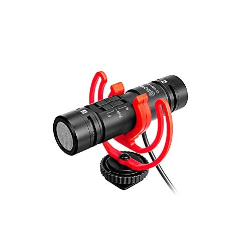 BOYA Dual-Capsule Condensatore Shotgun Microfono by-MM1 PRO per fotocamera iPhone Android Smartphone Tablet Videocamera PC 2 Persona Registrazione