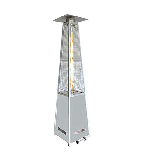 Best Prices! Outdoor Patio Heater, Gas Pyramid Patio Heater Outdoor Garden Stainless Steel Wheels Qu...