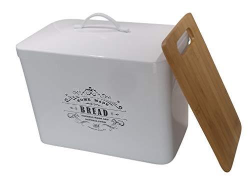 Metal bread box  cutting board Storage bin kitchen decor Kitchen storage container breadbox basket kitchen countertop organizer Tin box Premium Present brand