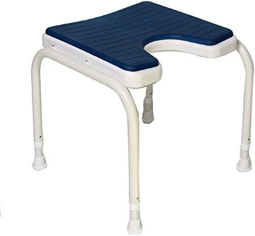 CLJ-LJ Taburete taburetes Impermeables Azules Estable Seguridad Confort Duradero 42.5cm Silla de baño de Ancianos/discapacitados/Embarazada Altura Ajustable aleación de Aluminio del baño heces Ant