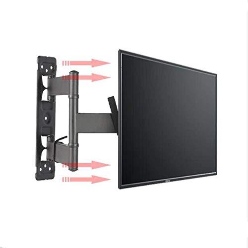 YLB Soporte de pared de televisión soporte de pared de televisión 6 pulgadas 32-58 brazos telescópicos de rotación de cristal líquido de cristal de cristal TV soporte de soporte 40 ° -90 ° Marco de te