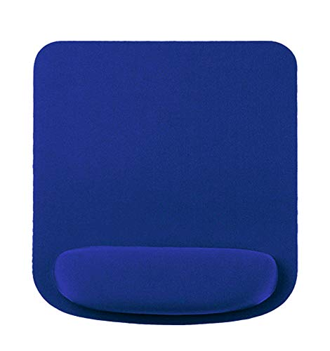 Mouse Pad Wrist Rest Support, Non-Slip Sponge Base Memory Foam Mouse Wrist pad,Ergonomic Mouse Wrist Rest Pad for Laptop, Computer, Gaming & Office - Comfortable for Easy Typing & Pain Relief (Blue)