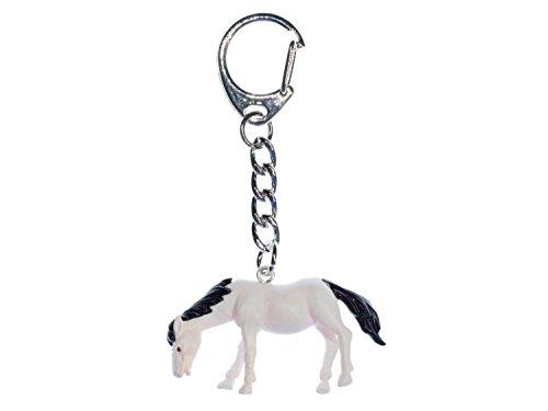 Miniblings Pferd Schlüsselanhänger Anhänge Pony Reiten Pferde weiß - Handmade Modeschmuck I I Anhänger Schlüsselring Schlüsselband Keyring
