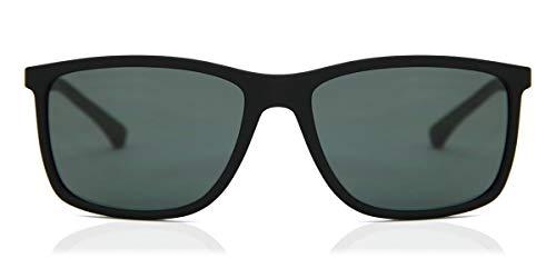 Emporio Armani 0EA4058 Gafas de sol, Matte Black, 57 para Hombre