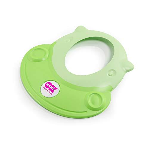 OKBABY Hippo - Visiera Proteggi Occhi per il Bagnetto del Bambino 8-36 Mesi - Verde