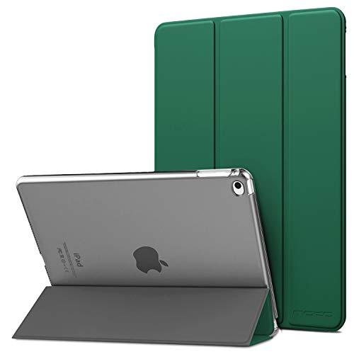 """MoKo Funda para iPad Air 2, Ultra Delgado Función de Soporte Protectora Plegable Cubierta Inteligente Trasera Transparente para iPad Air 2 9.7"""" Tablet - Bosque de Pino Verde"""