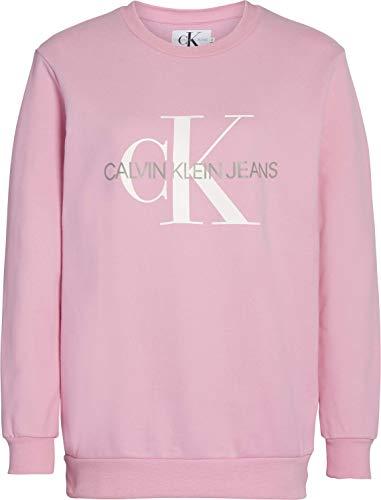 Calvin Klein Damen Monogram Logo Sweatshirt, Begonia Pink, Small