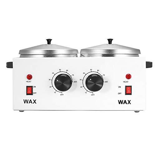 ChoJiah Double Wax Warmer Electric Wax Heater Dual Parrafin Hot Facial Skin Equipment SPA Adjustable Temperature Set