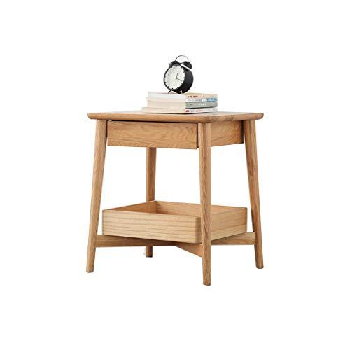 Nightstand GCX- Mesita de noche para dormitorio, mesita de noche, taquilla para sala de estar, sofá de sala de estar, gabinete lateral de moda (color de madera)
