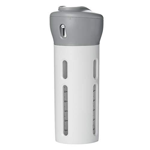 Luoshan 2 PCS 4 en 1 Bouteilles Voyage Portable Set de Toilette imperméable organisée Rechargeables Liquide Container (Rose) (Color : Light Grey)