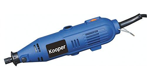 Kooper 2404132 freesmachine/mini-boor met 40 accessoires, 135 watt, blauw/zwart