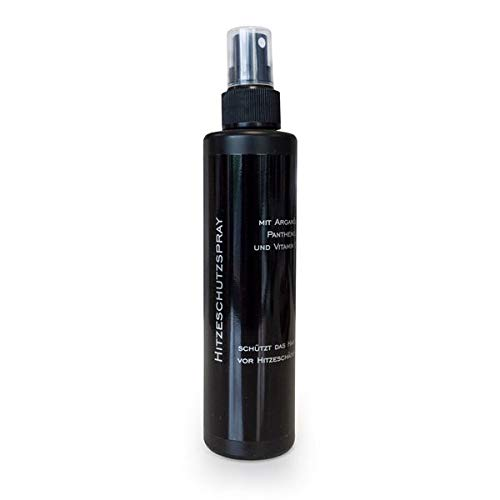 Spray de protección contra el calor con aceite de argán Panthenol Vitamina E 200 ml aceite de argán protección contra el calor para extensiones de pelo real para extensiones de cabello
