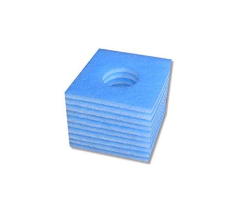 10 x baselines alternativ Ersatzfilter blau weiß, Filterklasse G3, Stärke >15 mm, für Limodor Limot F / LF / ELF + Lig 226 x 226 x mit Loch 95 mm