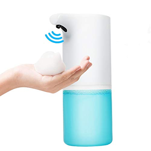 WEWAK Upgraded Automatic Foaming Soap Dispenser 0.25s Rapid Foaming 12oz/350ml, USB Charging Touchless Electric Soap Dispenser, Handsfree Soap Dispenser Suitable for Bathroom Kitchen Toilet Office