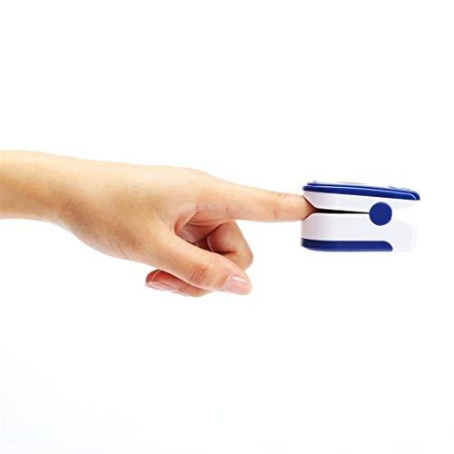 Punta del Dedo Digital Oxímetro de Pulso Pantalla LED Sensor de oxígeno en Sangre Saturación SpO2 Monitor Medidor de para el hogar de Ancianos Amante de los Deportes (Azul)