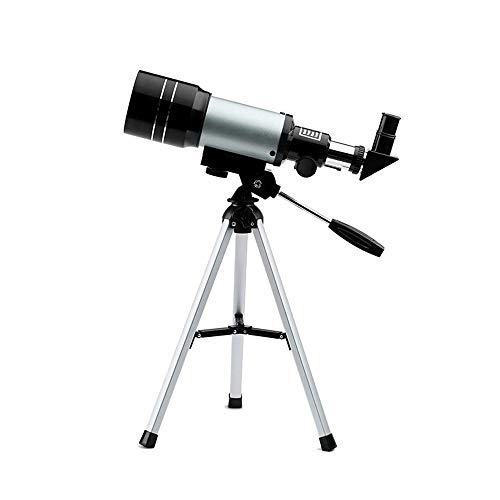Noodei Telescopio para niños Sky Telescopios monoculares para astrónomos Principiantes con trípode Negro de 70 mm,...