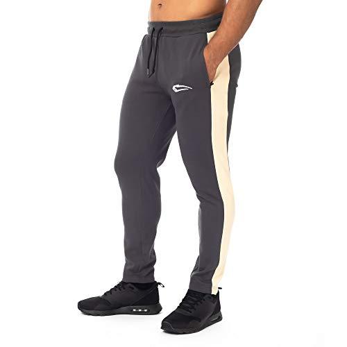 SMILODOX Herren Jogginghose Herren 'Power'  Trainingshose für Sport Fitness Gym Training & Freizeit   Sporthose - Jogger Pants - Sweatpants Hosen - Freizeithose Lang, Farbe:Anthrazit, Größe:M