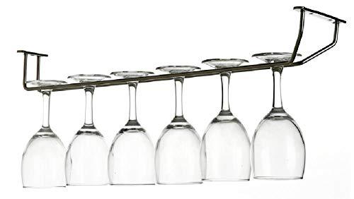 KUMOPYU Estante/Soporte De Vidrio De Una Hilera De 27 Cm Acero Inoxidable 304 Vinotecas Copas De Vino botellero Estante De Vino Botellas De Vino Montaje En Pared para Botellas De