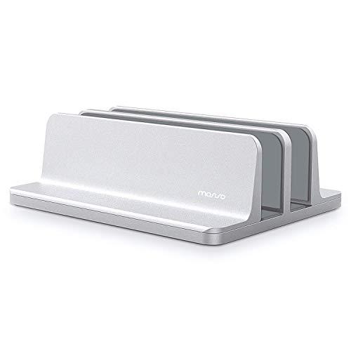 Mosiso ノートパソコン スタンド 縦置き 2台収納 冷却 ノートpcスタンド 幅調節可能 滑り止め 安定 PCホル...