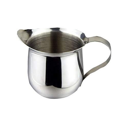 Leche Cafetera Fabricante Acero inoxidable Leche Espumar Lanzador Capuchino Jarra Verter Espresso Cup Creamer Cup Para Latte Art, (60ml)