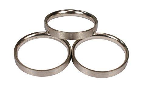 Edelstahl Gardinenringe halbrund mit Faltenlegehaken für 20 mm Durchmesser Gardinenstangen, 10 Stück
