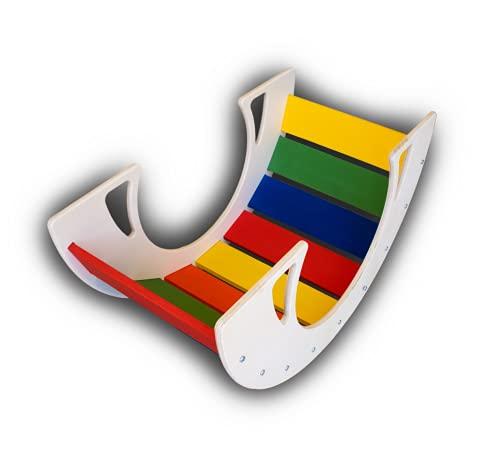 Dondolo per Bambini in Legno | Rainbow Rocker | Gioco Educativo Montessori | 100% Made in Italy - PEKIEDO