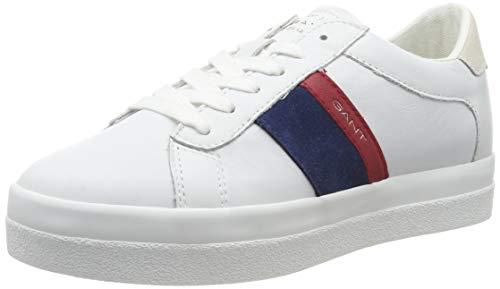 GANT Footwear Damen Aurora Sneaker, Weiß (Br.Wht/Ind.Blue/Red G282), 39 EU