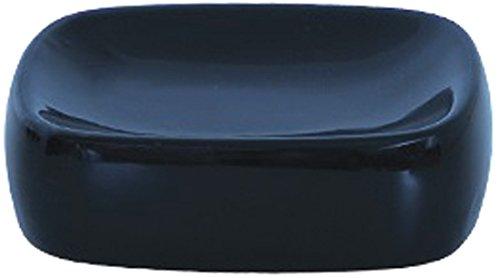 MSV 140447 zeepbakje, keramiek, 19 x 9,5 x 4 cm, zwart