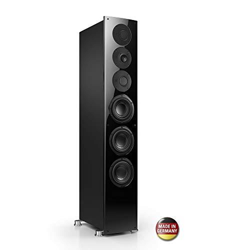 Nubert nuVero 110 Standlautsprecher | Lautsprecher für Stereo | HiFi Qualität auf höchstem Niveau | Passive Standbox mit 3 Wege Technik Made in Germany | High End Standlautsprecher Schwarz | 1 Stück