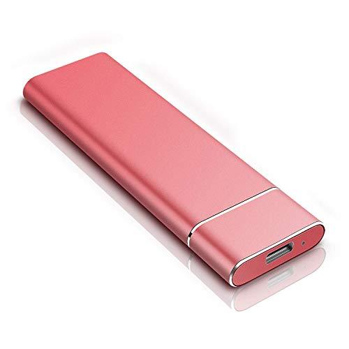 Disco rigido esterno ultra sottile - Disco rigido esterno portatile Disco rigido esterno da 2 TB compatibile con Mac, laptop, PC (2TB, Red)