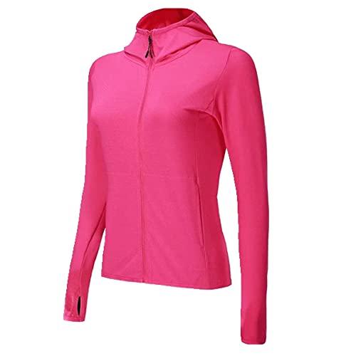 Señoras corriendo sudaderas deportes mujeres gimnasio ropa suéteres running chaqueta para, rosso, M