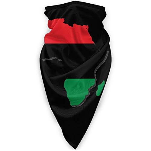 Westafrika Flagge von Südafrika Karte Panafrikanische Flagge wärmeres Gesicht, Outdoor Magic Stirnband Elastic Bandana SCA
