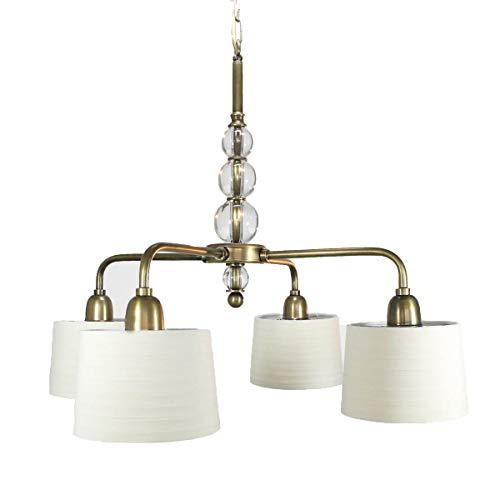 GARCÍA REQUEJO Lámpara de techo de 4 brazos, lámpara de techo led con pantallas de tela
