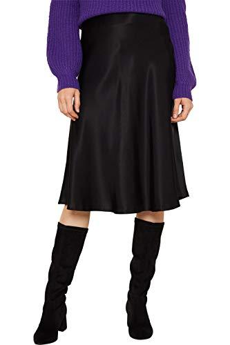 ESPRIT Collection Damen 119EO1D017 Rock, Schwarz (Black 001), (Herstellergröße: 38)