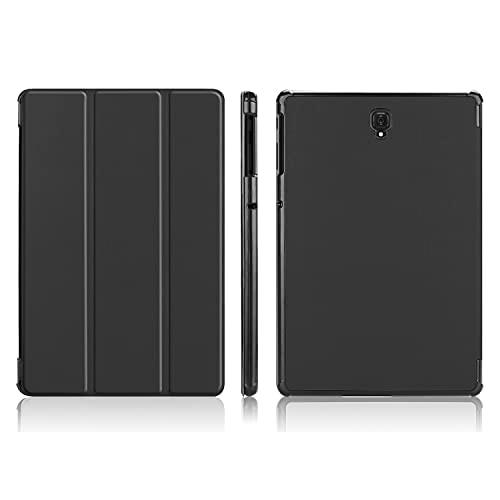 Funda para tablet Samsung Galaxy Tab S4 10.5 pulgadas T830/T835, ligera, con soporte triple y función de encendido automático, color negro