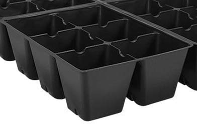 AAAmercantile Seed Starter Trays 300 DEEP Extra Large Cells Total (50 Trays of 6 Cells Each)
