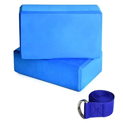 Lixada Bloque de Yoga con Correa de Estiramiento de Yoga Ajustable Accesorio Versátil para Ejercicios de Yoga Pilates