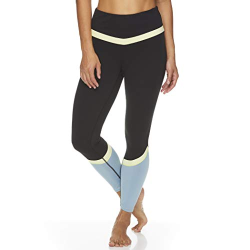 Gaiam Women's High Rise Waist Yoga Pants - Performance Spandex Compression Leggings...