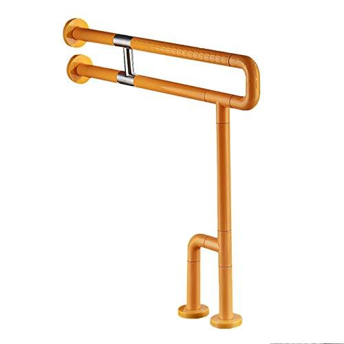 KUNYI Ältere Sicherheitshandlauf, Edelstahl Wasserdicht Anti-Rutsch-Schwangere Frau Handicapped WC Handlauf Toilette Get Up Geräte (Color : Yellow)